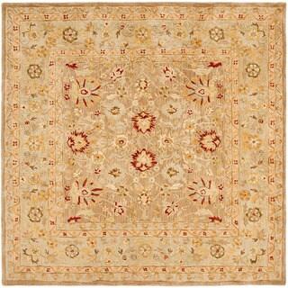Safavieh Handmade Anatolia Oriental Tan/ Ivory Hand-spun Wool Rug (8' Square)