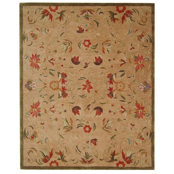 Safavieh Handmade Anatolia Oriental Traditional Beige Hand-spun Wool Rug - 9'6 x 13'6
