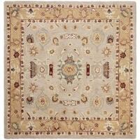 Safavieh Handmade Anatolia Oriental Traditional Ivory/ Gold Hand-spun Wool Rug - 6' x 6' Square
