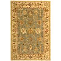 Safavieh Handmade Anatolia Oriental Heirloom Blue/ Ivory Hand-spun Wool Rug (9' x 12')