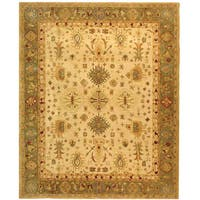 Safavieh Handmade Anatolia Oriental Heirloom Ivory/ Light Green Hand-spun Wool Rug - 6' x 9'