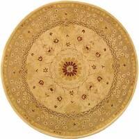 Safavieh Handmade Anatolia Oriental Timeless Ivory/ Sand Hand-spun Wool Rug - 8' x 8' Round