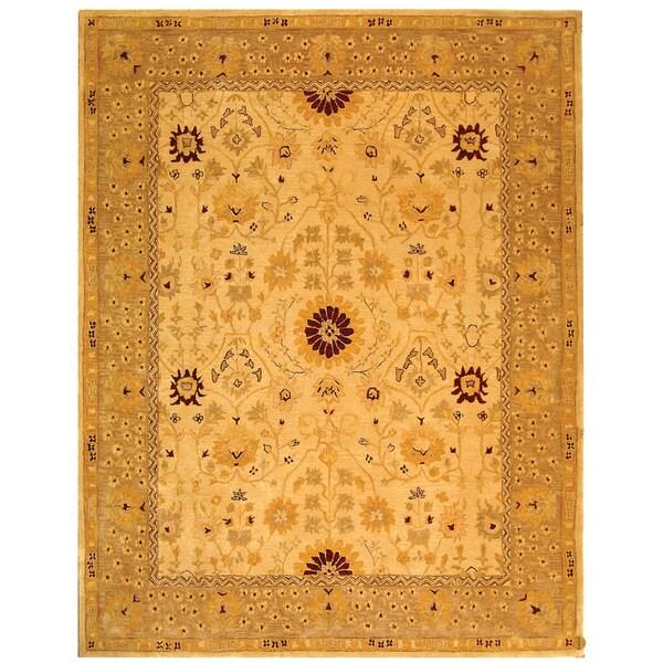 Safavieh Handmade Anatolia Oriental Timeless Ivory/ Sand Hand-spun Wool Rug - 5' x 8'