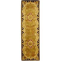 Safavieh Handmade Classic Juliette Gold Wool Runner (2'3 x 14')