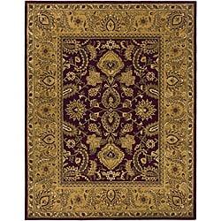 Safavieh Handmade Classic Regal Burgundy/ Gold Wool Rug - 9'6 x 13'6 - Thumbnail 0