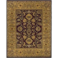 Safavieh Handmade Classic Regal Burgundy/ Gold Wool Rug - 9'6 x 13'6
