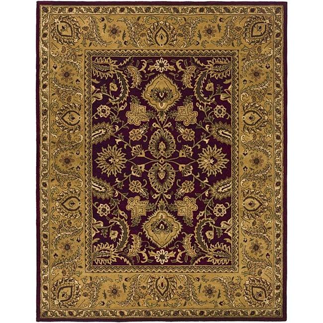Safavieh Handmade Classic Regal Burgundy/ Gold Wool Rug - 7'6 x 9'6
