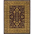 Safavieh Handmade Classic Regal Burgundy/ Gold Wool Rug - 7'6 x 9'6