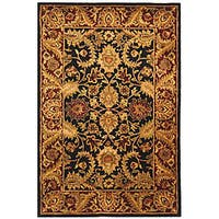 "Safavieh Handmade Classic Regal Black/ Burgundy Wool Rug - 9'6"" x 13'6"""