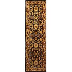 Safavieh Handmade Classic Regal Black/ Burgundy Wool Runner (2'3 x 8')