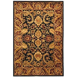 Safavieh Handmade Classic Regal Black/ Burgundy Wool Rug (4' x 6')