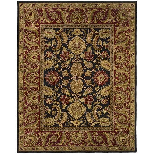 Safavieh Handmade Classic Regal Black/ Burgundy Wool Rug - 6' x 9'