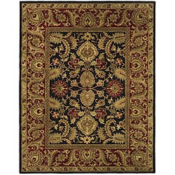 Safavieh Handmade Classic Regal Black/ Burgundy Wool Rug (6' x 9')