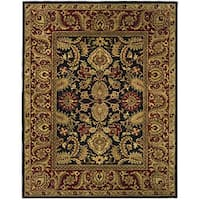 Safavieh Handmade Classic Regal Black/ Burgundy Wool Rug - 6' x 9'