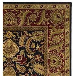 Safavieh Handmade Classic Regal Black/ Burgundy Wool Rug (7'6 x 9'6) - Thumbnail 1