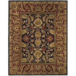 Safavieh Handmade Classic Regal Black/ Burgundy Wool Rug - 7'6 x 9'6 - Thumbnail 0
