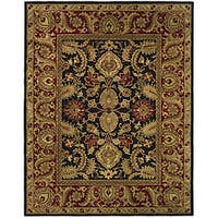 Safavieh Handmade Classic Regal Black/ Burgundy Wool Rug (7'6 x 9'6)