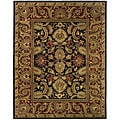 Safavieh Handmade Classic Regal Black/ Burgundy Wool Rug - 7'6 x 9'6