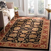 "Safavieh Handmade Classic Heirloom Navy/ Red Wool Rug - 8'3"" x 11'"