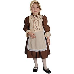 Girl's Traditional Colonial Girl Costume