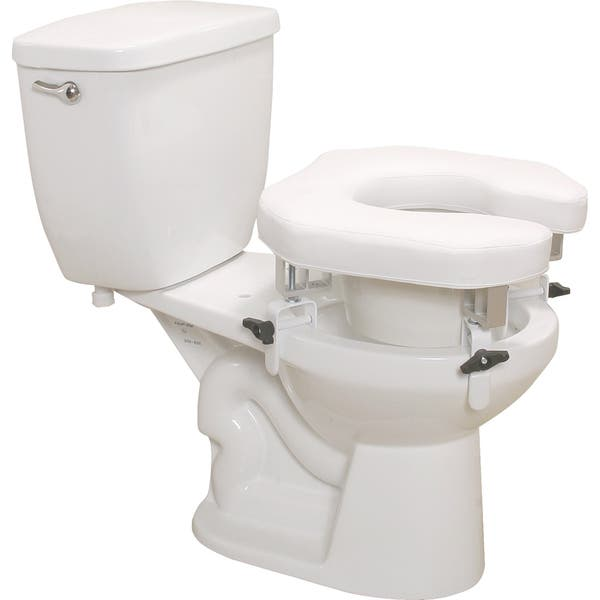 Excellent Drive Padded Raised Toilet Seat With Four Locking Brackets Pabps2019 Chair Design Images Pabps2019Com