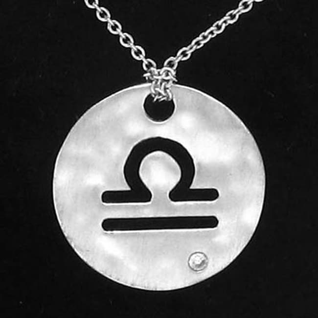 Sterling Silver Diamond Zodiac Sign Necklace