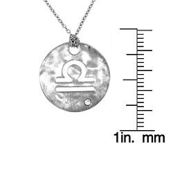 Sterling Silver Diamond Zodiac Sign Necklace - Thumbnail 2