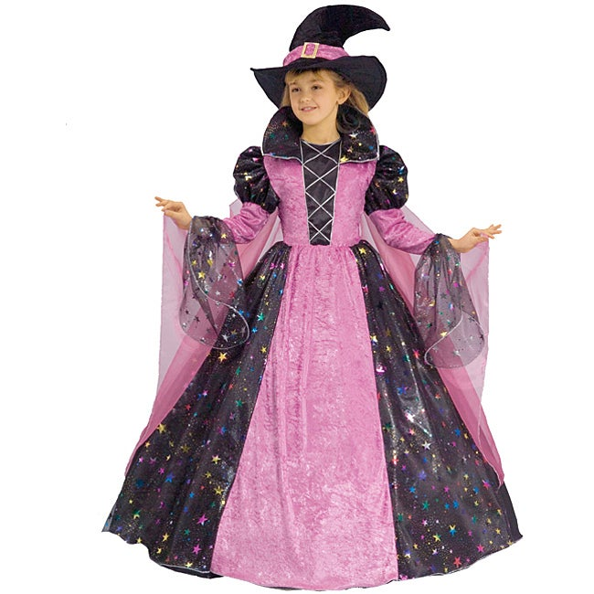 Shop Girl S Deluxe Witch Costume Overstock 4245366