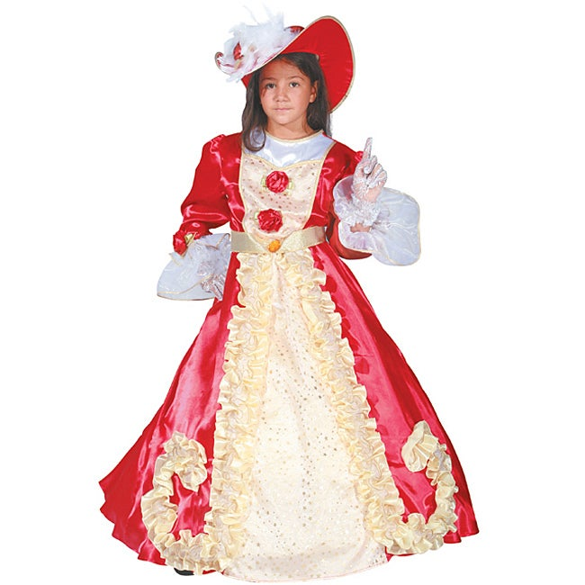 Girl's Aristocratic Noble Lady Costume - Thumbnail 0