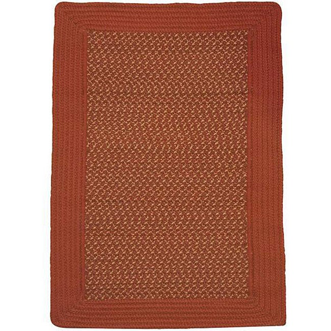 Donegal Indoor/ Outdoor Barn Red Braided Rug (8' x 11')