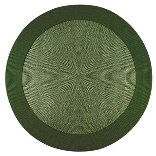 Donegal Indoor/ Outdoor Olive Braided Rug (6' Round)