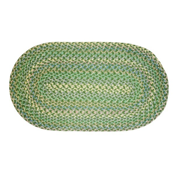 Brookline Green Indoor/ Outdoor Braided Rug (5' x 8')