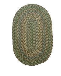 Brookline Green Indoor/ Outdoor Braided Rug (3'6 x 5'6) - Thumbnail 1