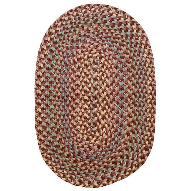 Smithfield Burgundy Indoor/ Outdoor Braided Rug (8' x 11')