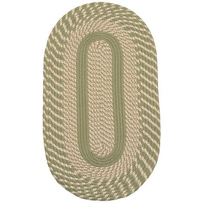 Middletown Sage Braided Rug (3'6 x 5'6)