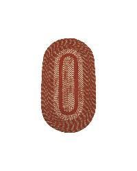 Middletown Barn Red/ Olive Braided Rug (3'6 x 5'6 Oval)