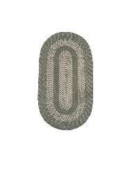 Middletown Slate Indoor/ Outdoor Braided Rug (2' x 9' Oval)