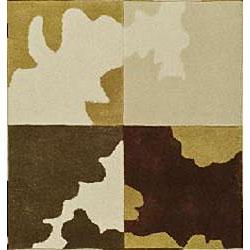 Safavieh Handmade Soho Modern Abstract Ivory Wool Rug (3' 6 x 5' 6) - Thumbnail 2