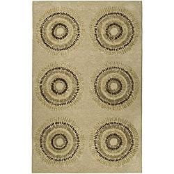 Safavieh Handmade Deco Explosions Beige/ Multi N. Z. Wool Rug (3'6 x 5'6)