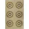 Safavieh Handmade Deco Explosions Beige/ Multi N. Z. Wool Rug - 7'6 x 9'6