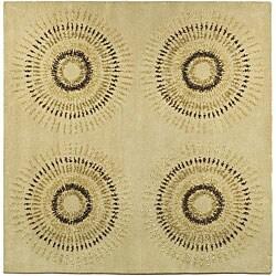 Safavieh Handmade Deco Explosions Beige/ Multi N. Z. Wool Rug (8' Square)