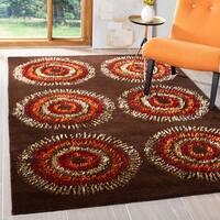 Safavieh Handmade Deco Explosions Brown/ Multi N. Z. Wool Rug - 5' x 8'