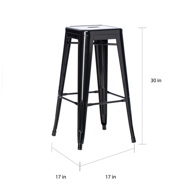 30 Inch Bar Stools Set Of 2 Part - 31: Tabouret 30-inch Black Metal Bar Stools (Set Of 2) - Free Shipping Today -  Overstock.com - 12238964
