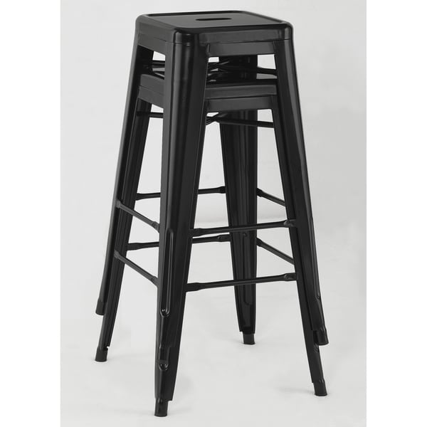 Tabouret 30-inch Black Metal Bar Stools (Set of 2) - Free Shipping Today - Overstock.com - 12238964  sc 1 st  Overstock.com & Tabouret 30-inch Black Metal Bar Stools (Set of 2) - Free Shipping ... islam-shia.org