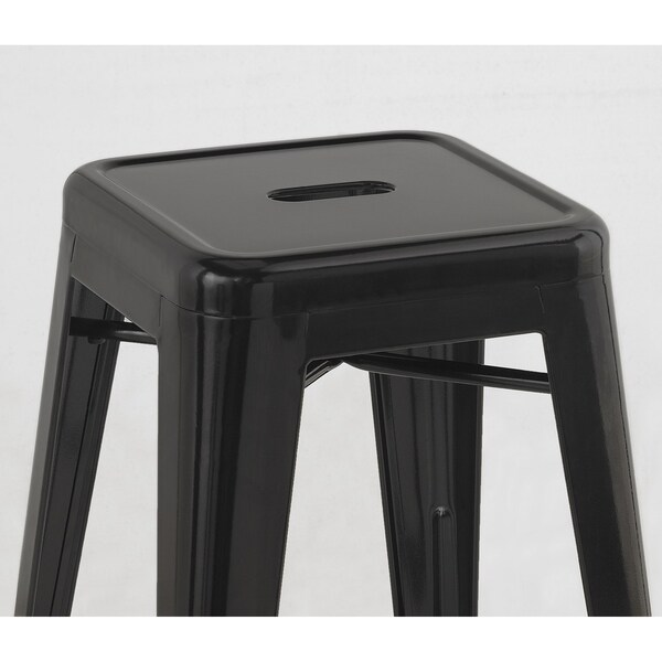 Tabouret 24-inch Black Metal Counter Stools (Set of 2) - Free Shipping Today - Overstock.com - 12238963  sc 1 st  Overstock.com & Tabouret 24-inch Black Metal Counter Stools (Set of 2) - Free ... islam-shia.org