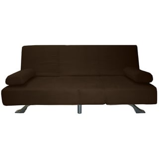 Phoenix Microfiber Suede Click Clack Futon Sofa Bed