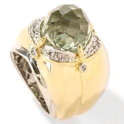 Michael Valitutti Silver/ 18k Vermeil Amethyst/ Sapphire Ring - Thumbnail 1
