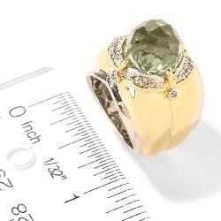Michael Valitutti Silver/ 18k Vermeil Amethyst/ Sapphire Ring - Thumbnail 2