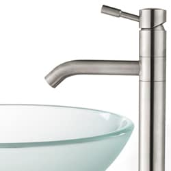 Kraus Frosted Glass Sink and Aldo Steel Faucet - Thumbnail 2