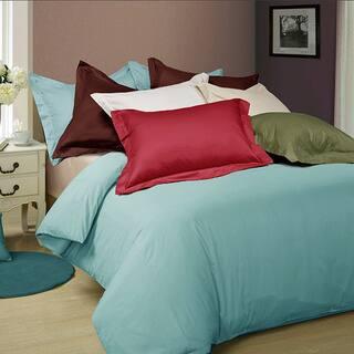 Oversized Cotton Sateen 3 Piece Duvet Cover Sets Super